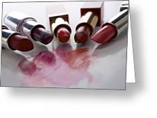 Lipsticks Greeting Card by Bernard Jaubert