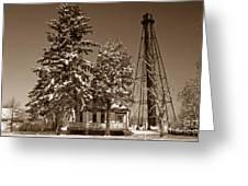Liston Rear Range Lighthouse De Greeting Card