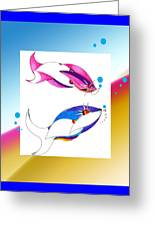 2 Little Fish Greeting Card