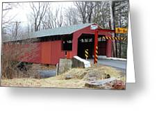 Little Gap Covered Bridge Greeting Card