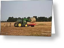 Loading Hay Greeting Card