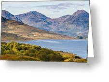 Loch Arklet And The Arrochar Alps Greeting Card