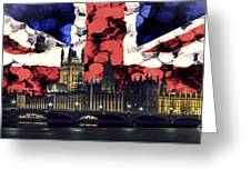 London Cityscape With Big Ben Greeting Card