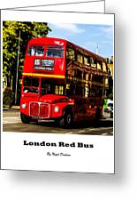 London Red Bus. Greeting Card