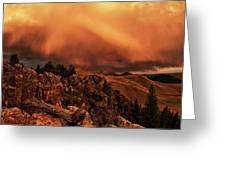 Lost River Sunset Greeting Card