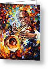 Louis Armstrong . Greeting Card