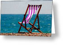 Lounging In Long Beach Greeting Card