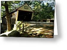 Lovejoy Covered Bridge Greeting Card