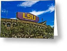 Lsu Tiger Stadium Greeting Card
