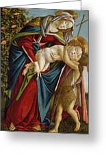Madonna And Child And The Young St John The Baptist Greeting Card