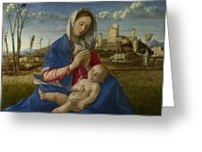 Madonna Of The Meadow Greeting Card