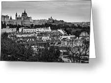 Madrid Panorama From Debod Lookout Madrid Spain Greeting Card