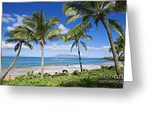 Makena, Maluaka Beach Greeting Card