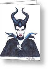 Maleficent  Once Upon A Dream Greeting Card