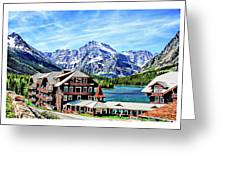 Many Glacier Hotel Greeting Card