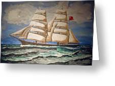 2 Master Tall Ship Greeting Card