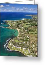 Maui Aerial Of Kapalua Greeting Card
