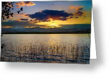 Mcintosh Lake Sunset Greeting Card