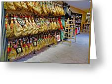 Meat Market In Palma Majorca Spain Greeting Card