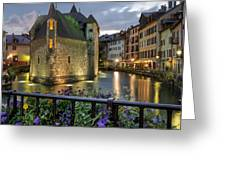Medieval Jail In Annecy Greeting Card