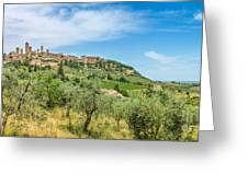 Medieval Town Of San Gimignano, Tuscany, Italy Greeting Card
