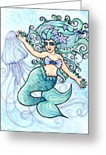 Mermaid Belly Dancer Greeting Card