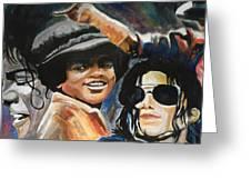 Micheal Jackson Greeting Card