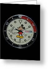 Mickey Mouse Watch Face Greeting Card