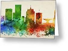 Milwaukee Skyline Panorama Uswiml-pa03 Greeting Card