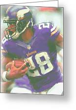 Minnesota Vikings Adrian Peterson Greeting Card