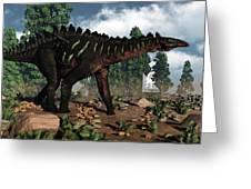 Miragaia Dinosaur - 3d Render Greeting Card