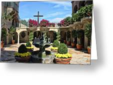 Mission Inn Chapel Courtyard Greeting Card