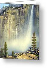 Misty Falls Greeting Card