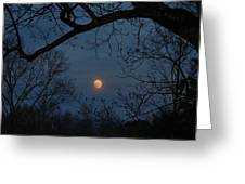 Misty Moonrise Greeting Card