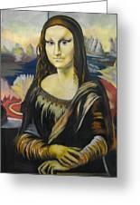 Mona Lisa Greeting Card
