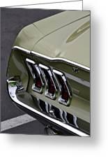 Mustang Fastback Greeting Card