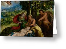 Mythological Scene Greeting Card
