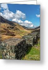 Nant Ffrancon Pass Snowdonia Greeting Card