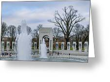National World War II Memorial Greeting Card
