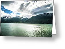 Nature And Mountains Around Skagway Alaska Greeting Card