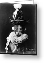 Navajo Mask, C1905 Greeting Card