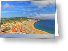 Nazare Skyline Seagull Greeting Card