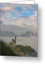 Neuschwanstein Castle Landscape Greeting Card