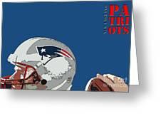 New England Patriots Original Typography Football Team Greeting Card