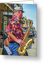 New Orleans Jazz Sax  Greeting Card