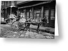 New Orleans: Milk Cart Greeting Card