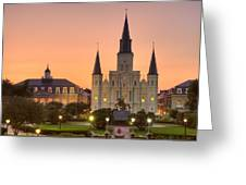 New Orleans St Louis Cathedral Greeting Card