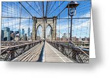 New York City Brooklyn Bridge Greeting Card