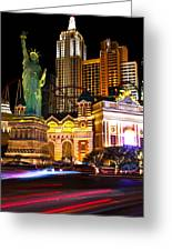 New York New York Casino Greeting Card
