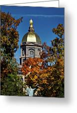 Notre Dame's Golden Dome Greeting Card